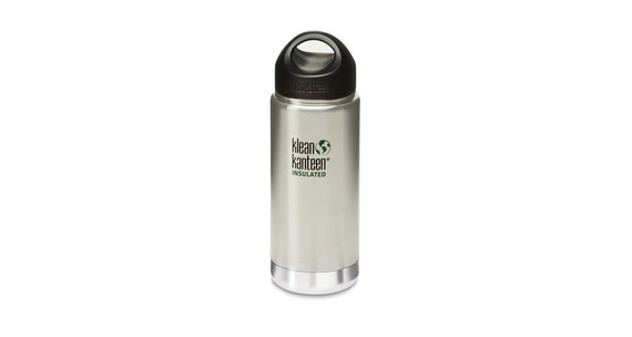 Klean Kanteen Wide Insulated Trinkflasche mit Edelstahl Loop Cap 473ml brushed stainless